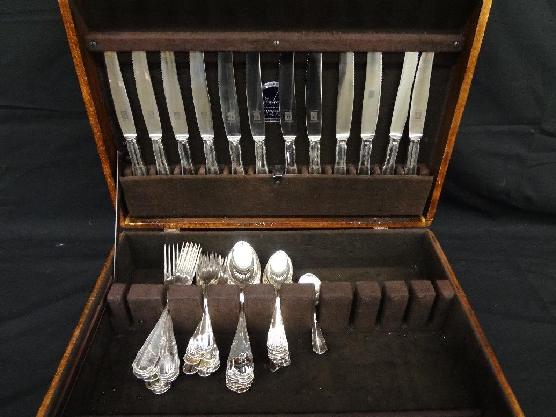 800 Silver Flatware: Bruckman Maker 1662 Grams