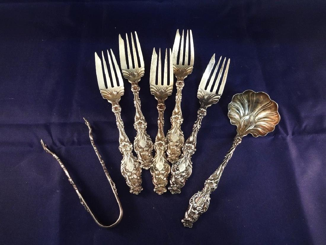 Whiting Sterling Silver Flatware Art Nouveau Lily