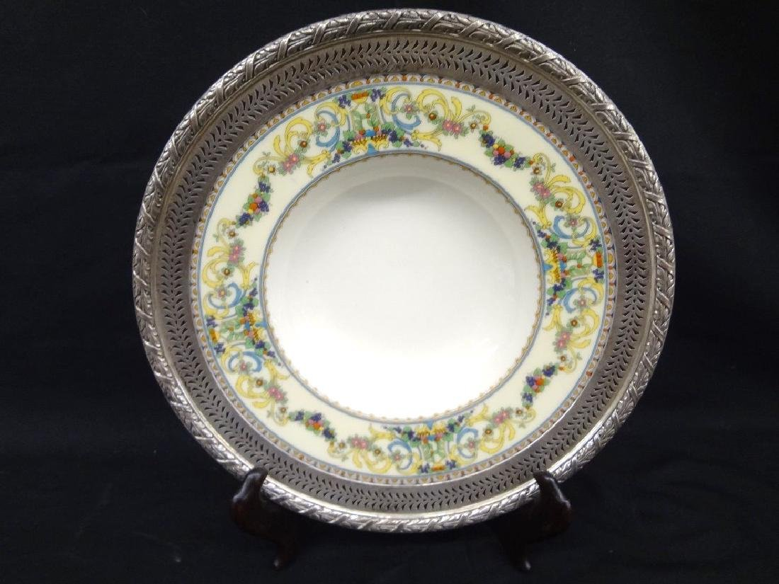 """Lenox """"Renaissance"""" Porcelain Bowl Sterling Silver"""