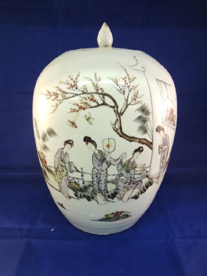 19th Century Lidded Chinese Ginger Jar