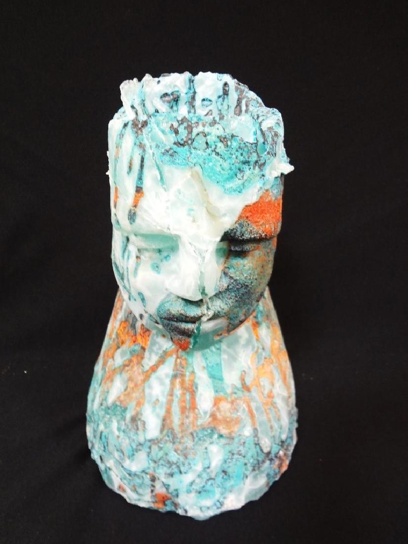Irene Frolic (1941-) Cast Glass Sculpture