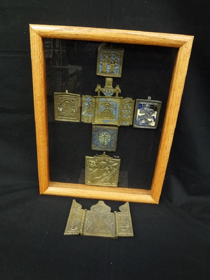 Early 19th Century Traveling Religious Icons in Shadow