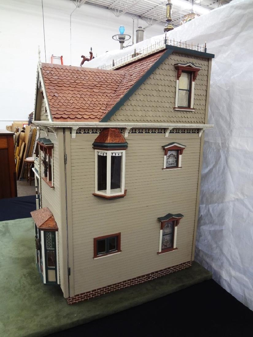20th Century Victorian Painted Doll House Kit - 13