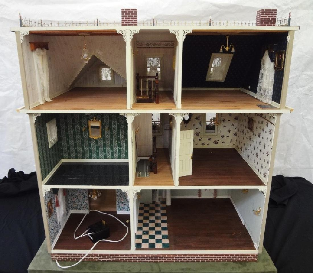 20th Century Victorian Painted Doll House Kit - 15