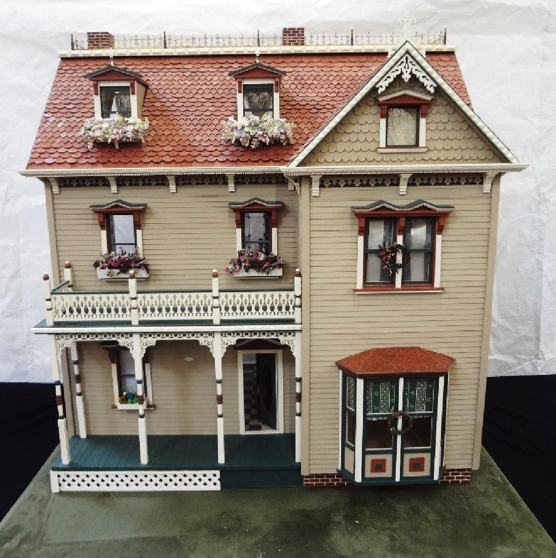 20th Century Victorian Painted Doll House Kit