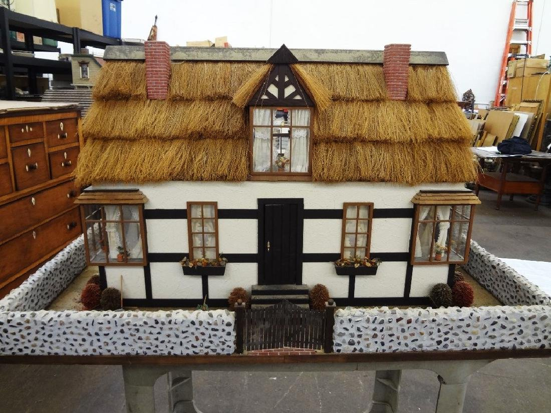 20th Century Old English Countryside Doll House Hand