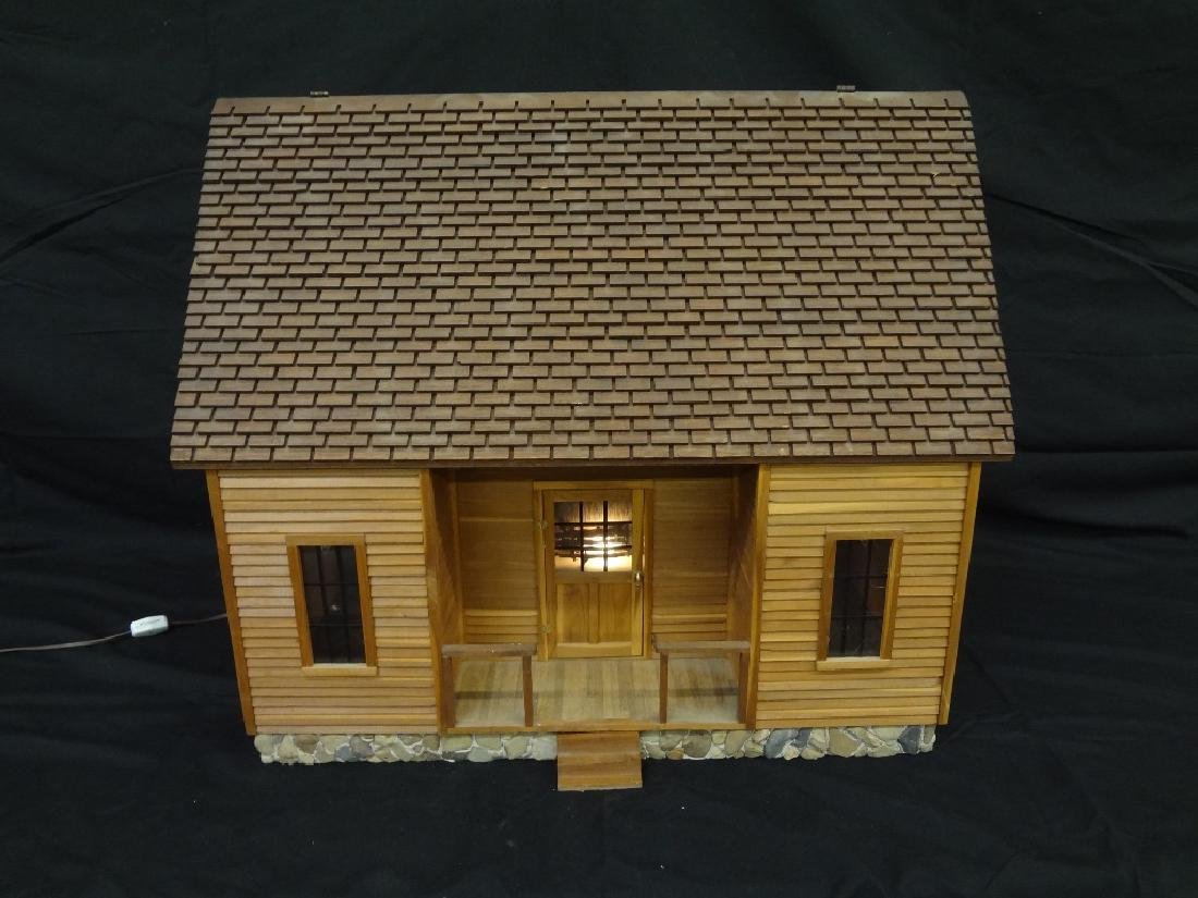 Pioneer Style Hand Made Doll House Log Cabin