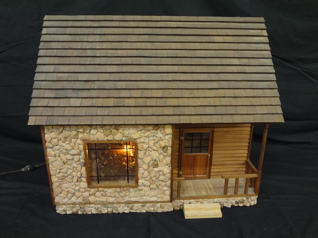 Pioneer Style Hand Made Log Cabin Doll House