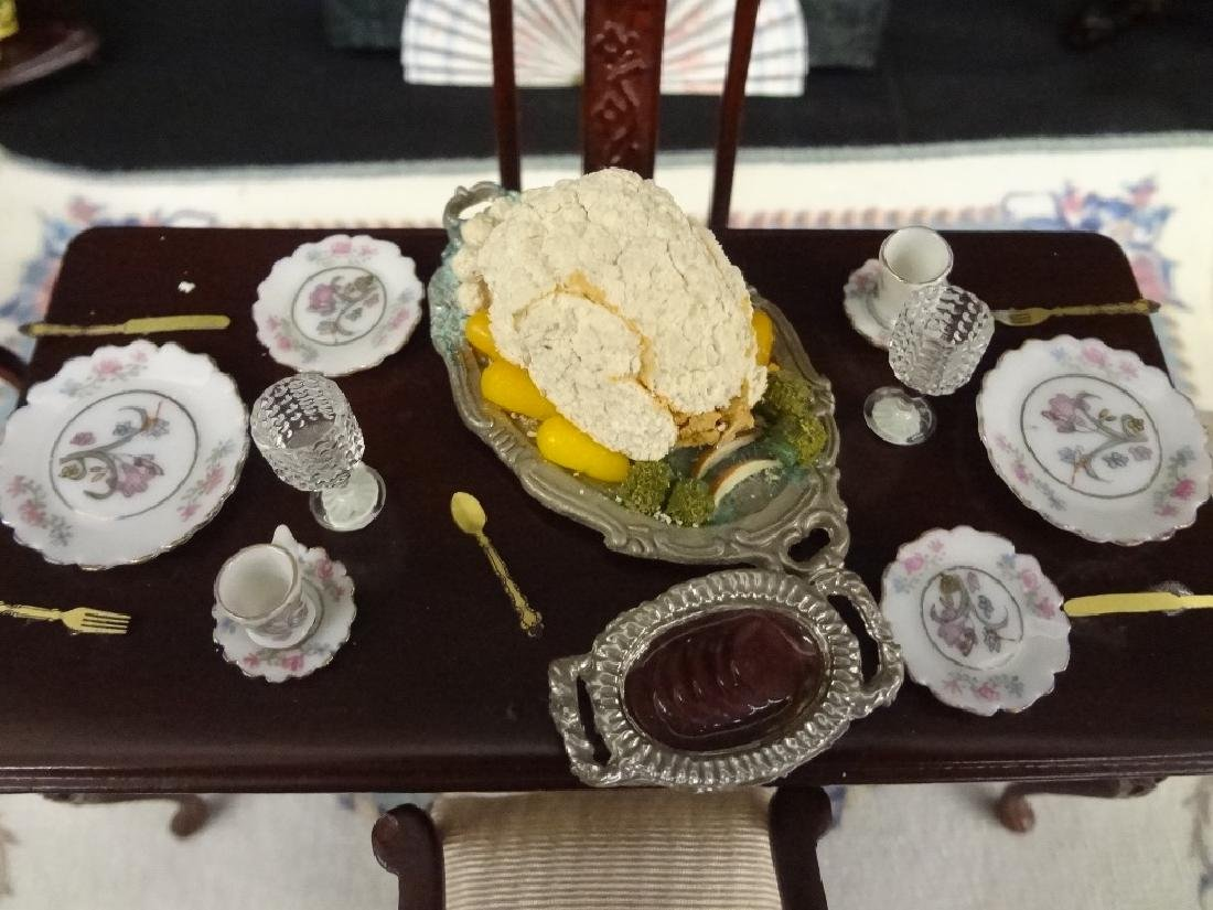 Collection of Miniature Doll House Furniture - 6
