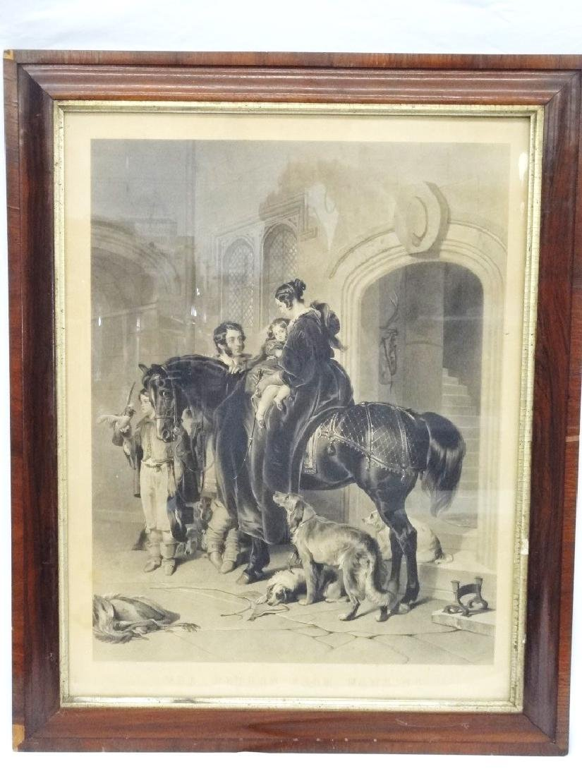 "A.H. Ritchie Engraving ""The Return From Hawking"" Sir"
