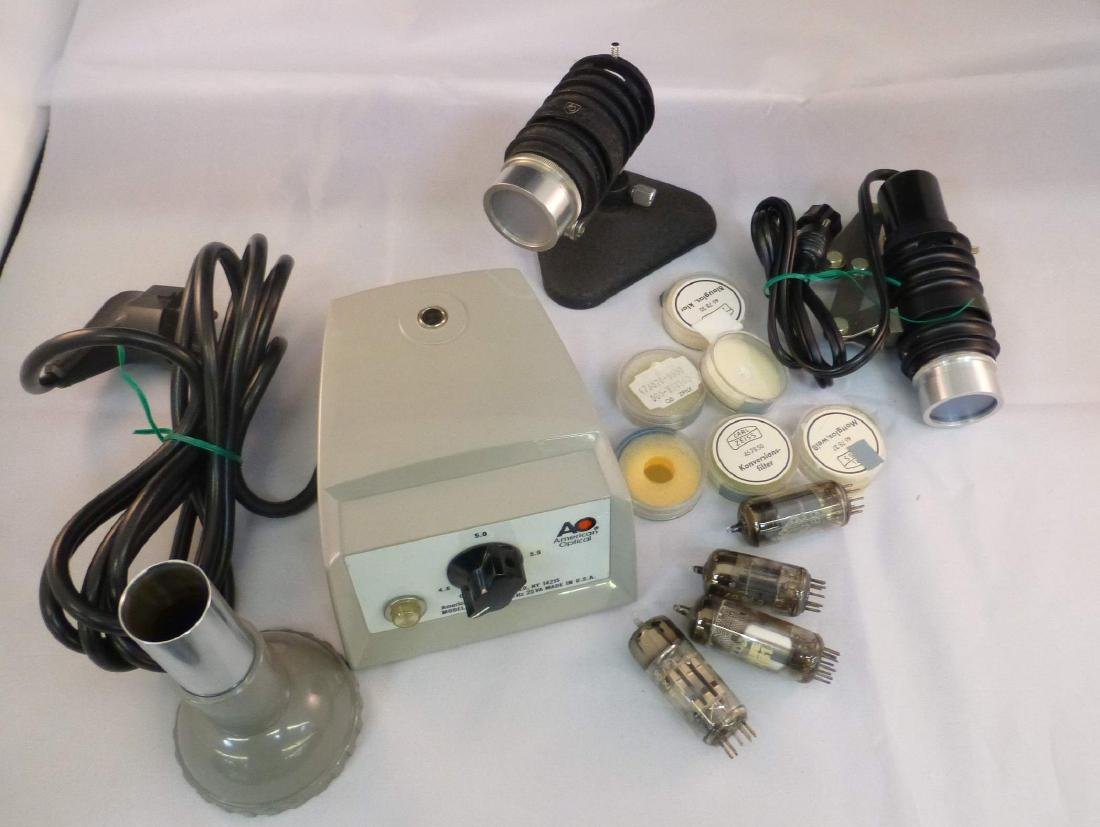 Lot of Misc Microscope Parts AO Conversion Filters