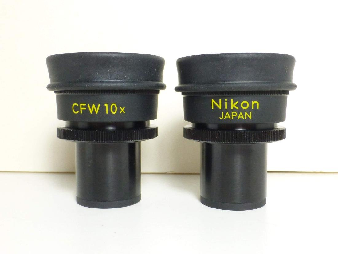 Pair Nikon CFW 10x Microscope Eyepieces Oculars w
