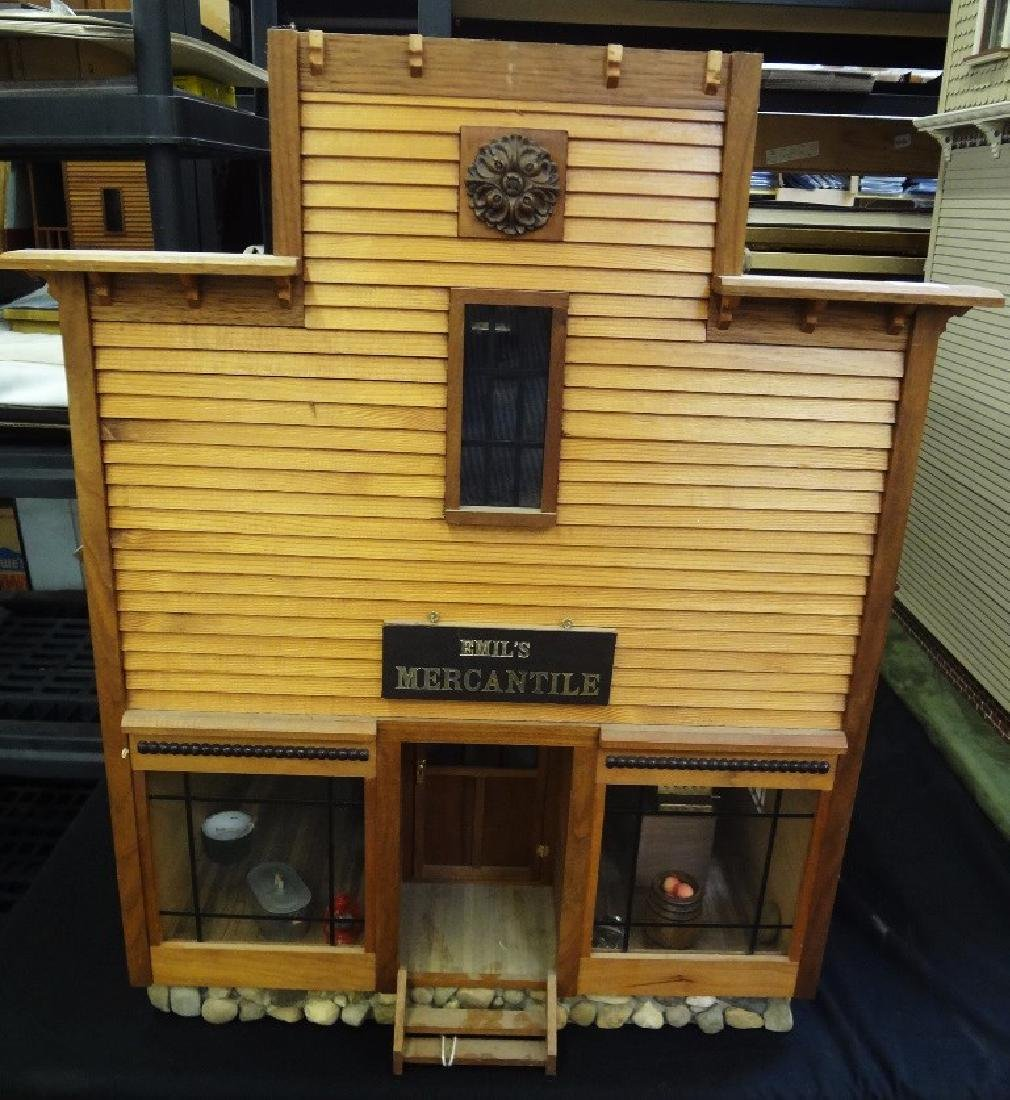 Hand Made Pioneer Era Mercantile Cabin Doll House