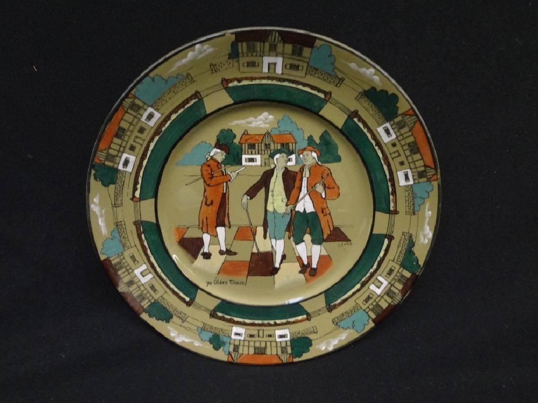 "Buffalo Pottery Deldare Ware Charger Plate: ""Ye Olden"