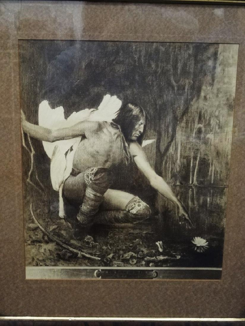 "George DeForest Brush Photogravure ""The Indian and the"