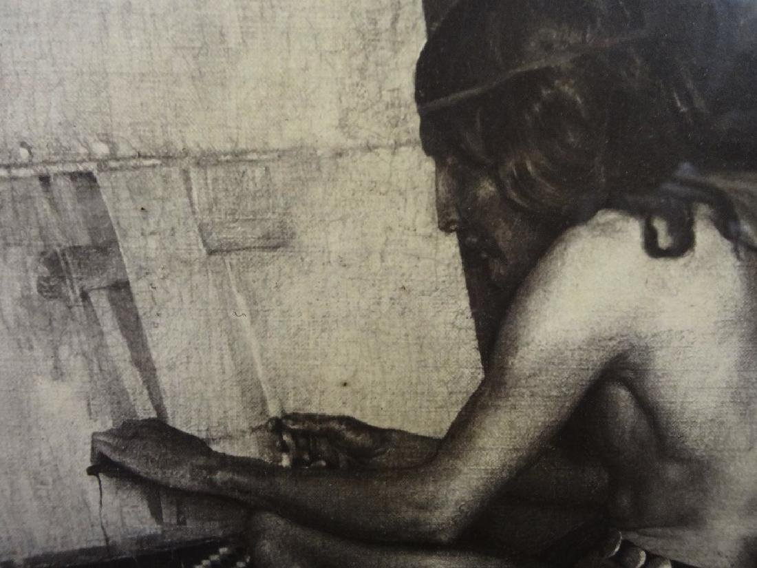 "George DeForest Brush Photogravure ""Indian Weaving"" - 2"