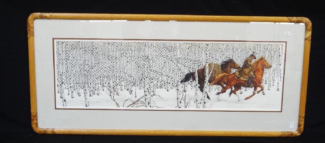 "Bev Doolittle ""Sacred Ground"" Signed Lithograph Framed"