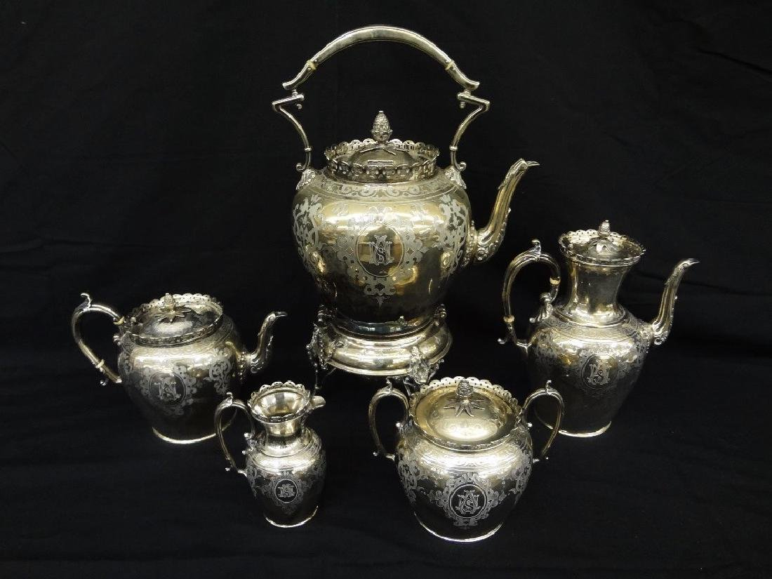 Stunning Ornate Silverplated Tea and Coffee Service