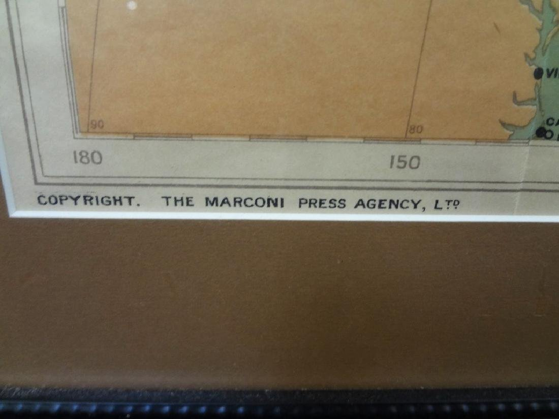 "The Marconi Press ""Wireless Map of the World"" 1914 - 3"
