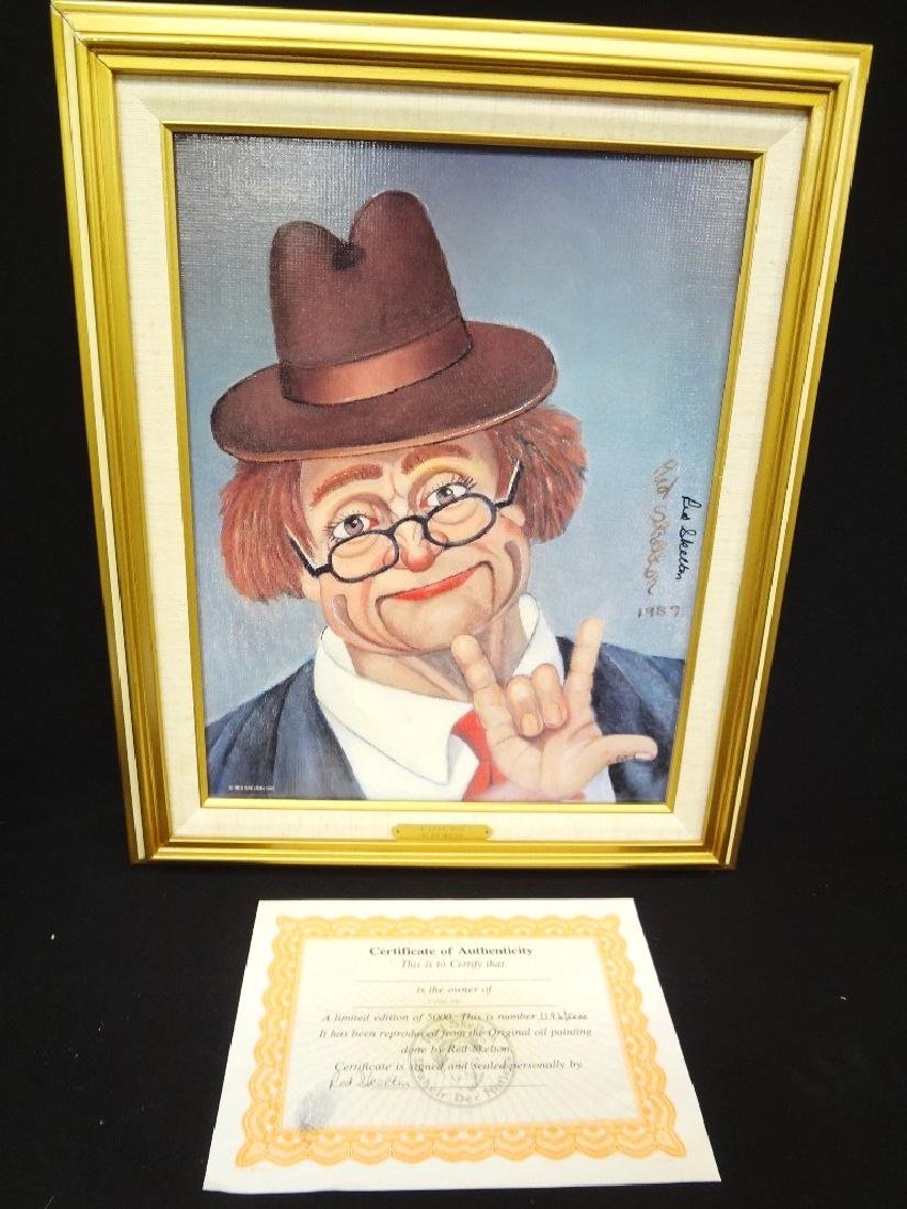 """Red Skelton Signed Lithograph """"I Love You"""" 1196/5000"""