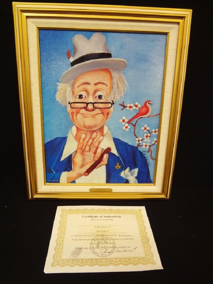 """Red Skelton Signed Lithograph """"The Noble"""" Clown"""