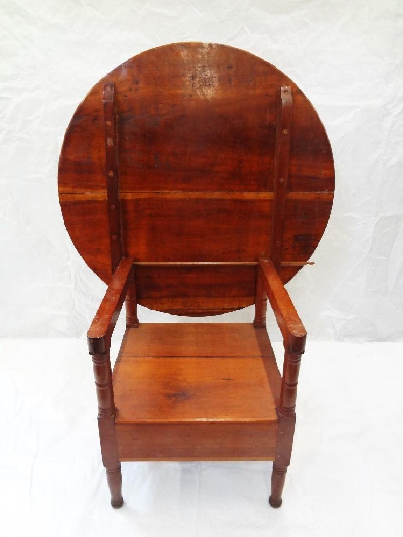 1850's Cherry Tilt Top Table Chair - 4