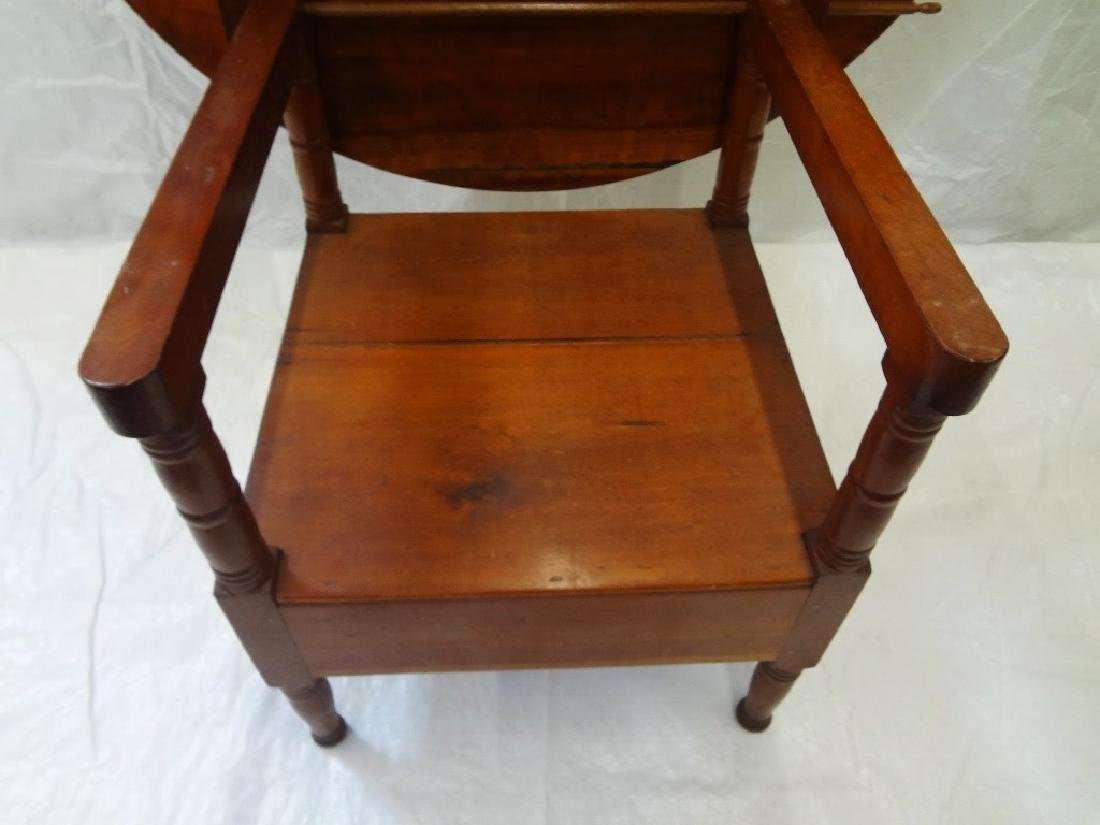 1850's Cherry Tilt Top Table Chair - 5