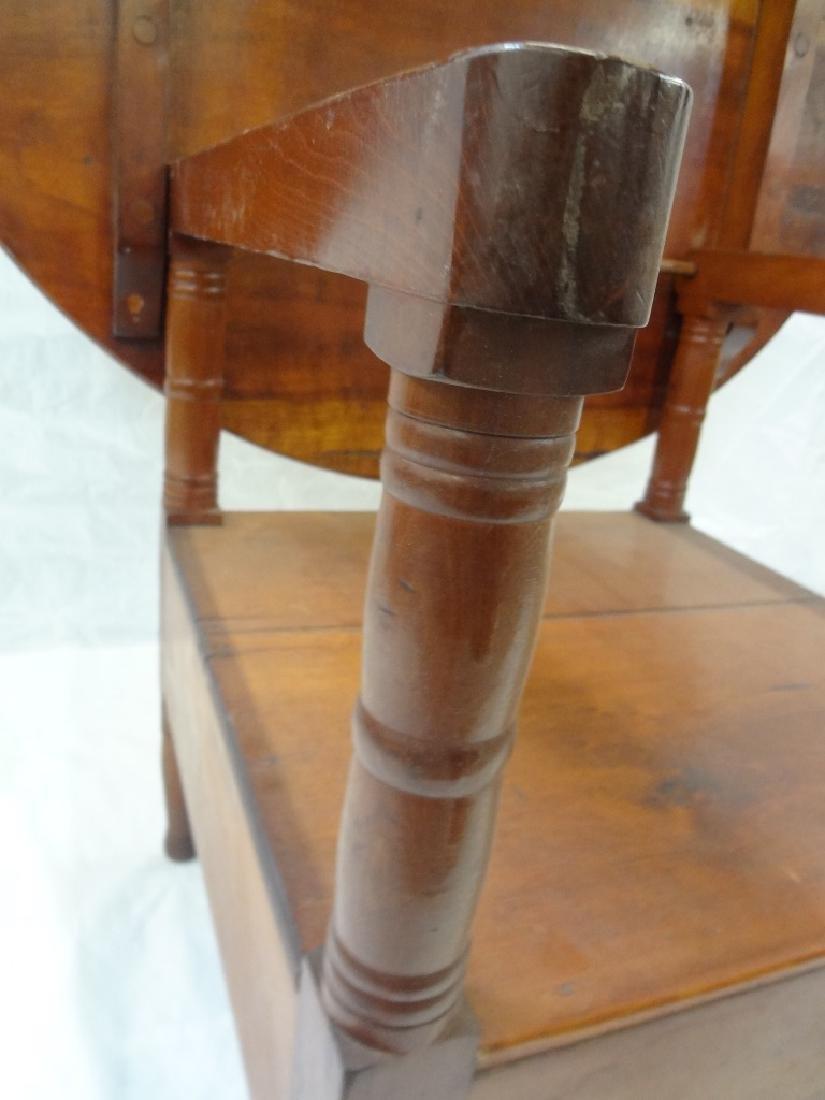 1850's Cherry Tilt Top Table Chair - 7