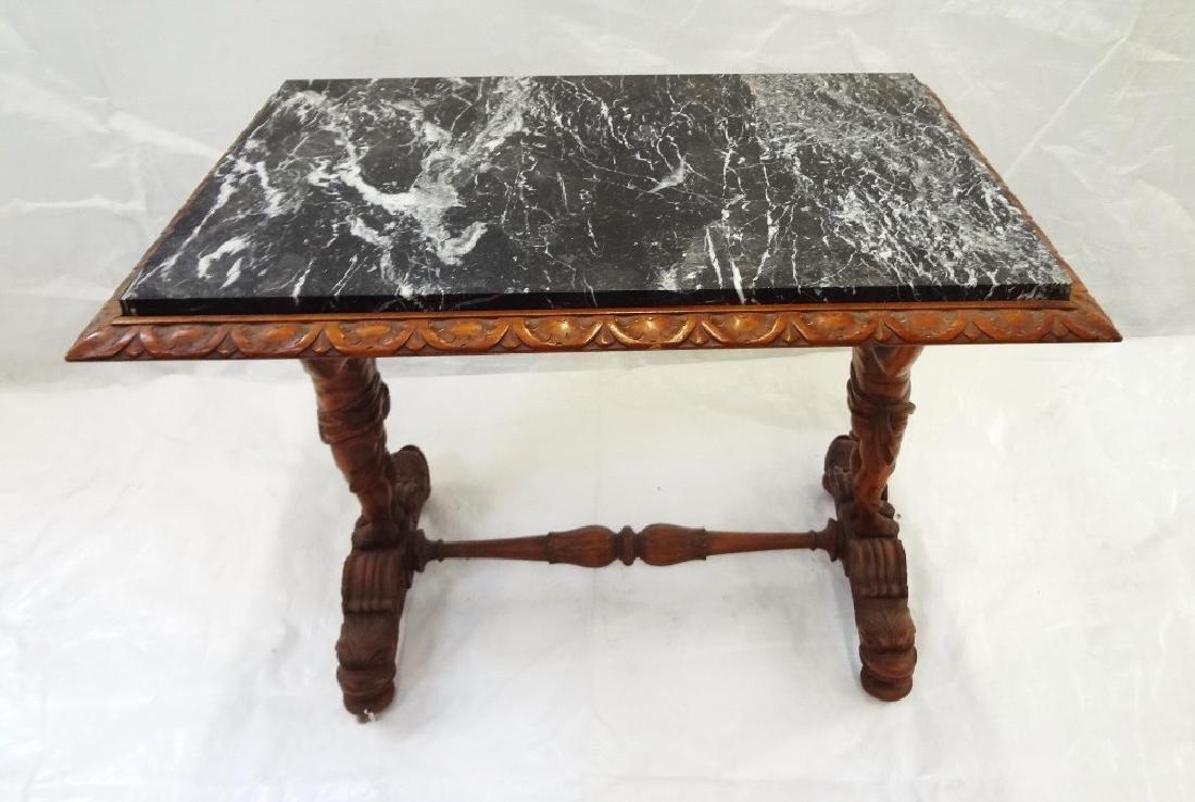 Art Nouveau Style Marble Top Side Table