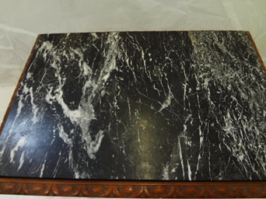 Art Nouveau Style Marble Top Side Table - 2