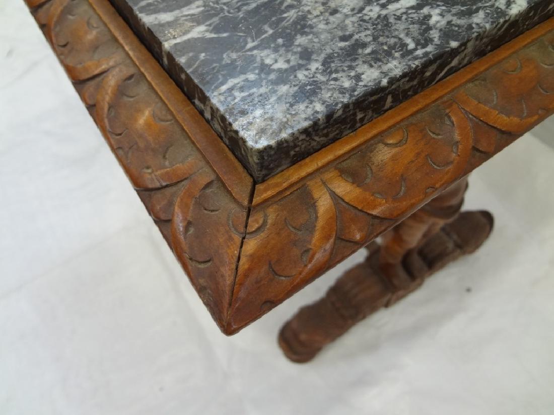 Art Nouveau Style Marble Top Side Table - 3
