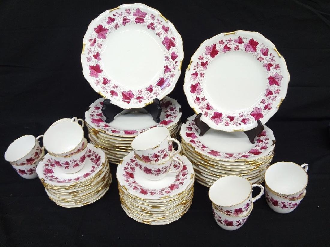 Royal Crown Derby Maple Leaf Maroon China Service Set