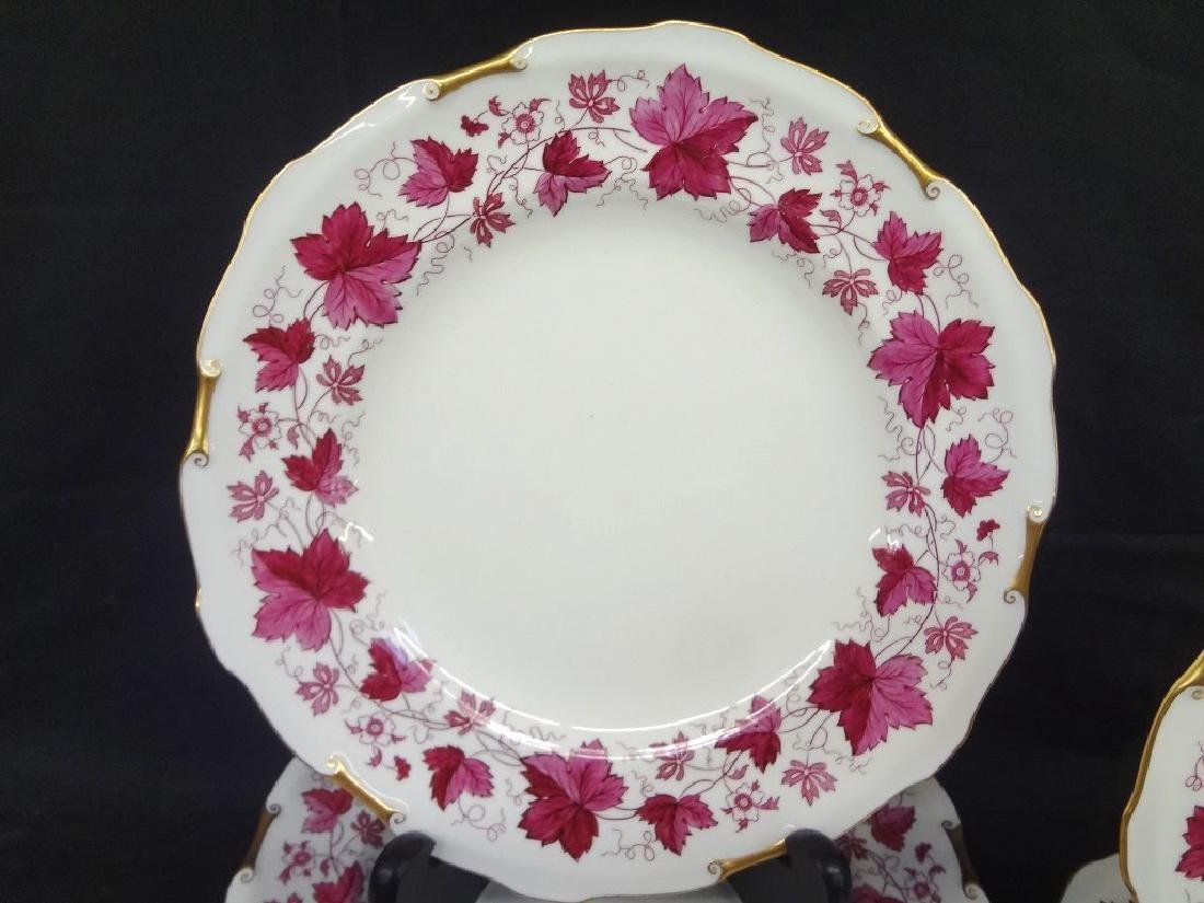Royal Crown Derby Maple Leaf Maroon China Service Set - 2