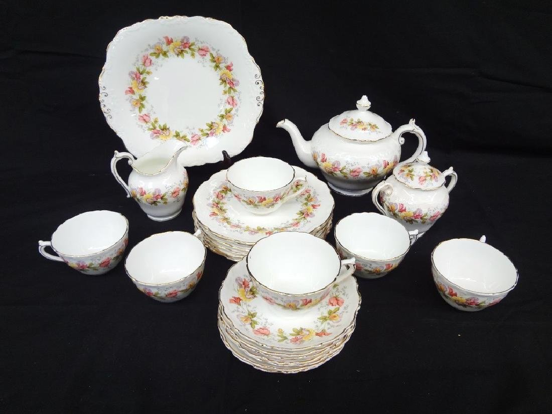 "Coalport Bone China ""Marilyn"" Tea Service for Six"