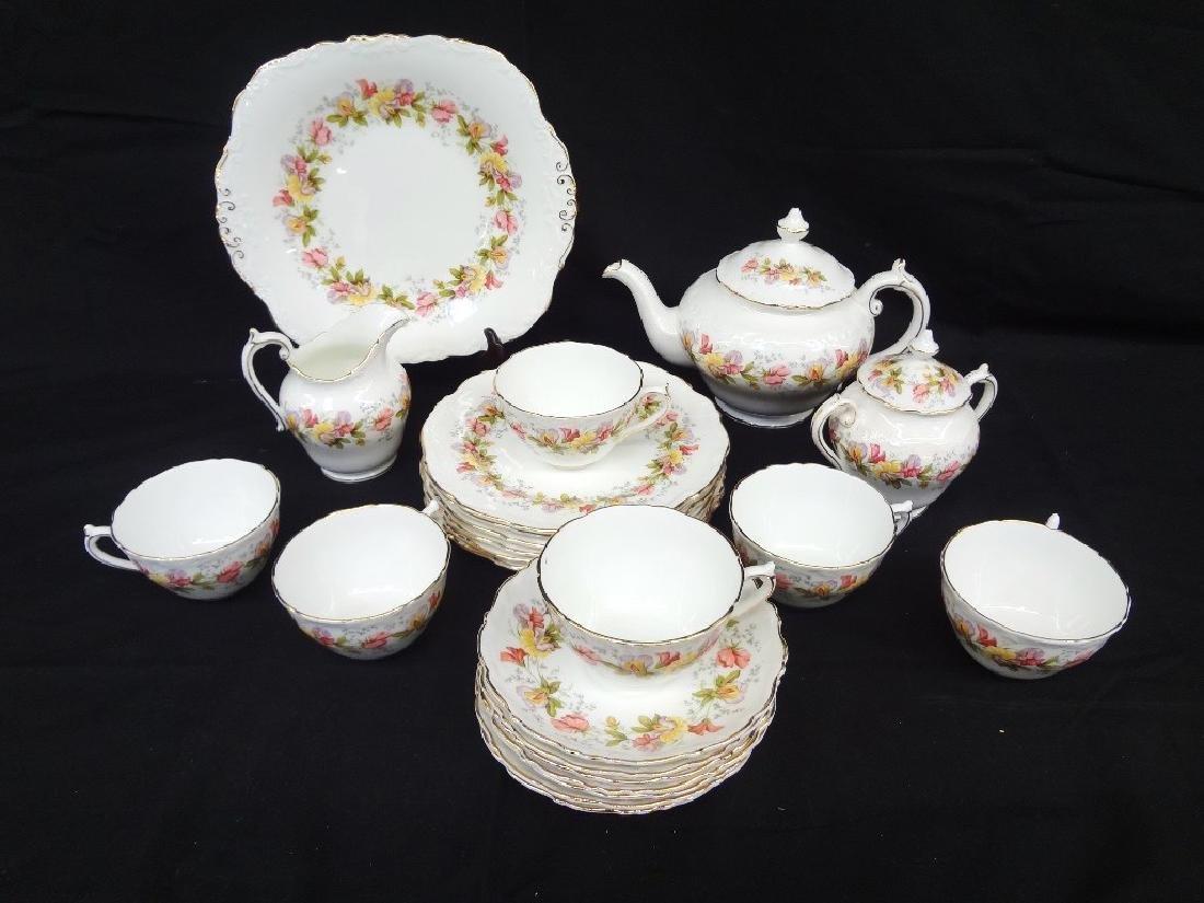 "Coalport Bone China ""Marilyn"" Tea Service for Six"