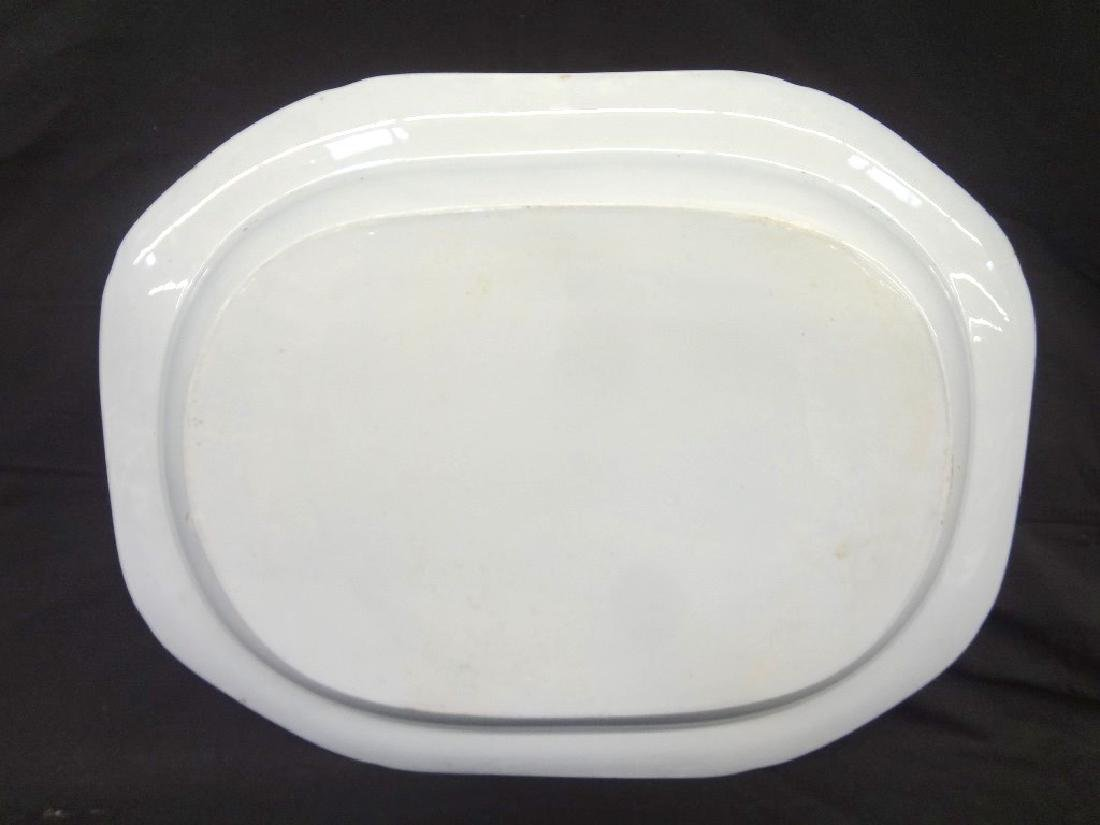 Oversize Blue and White Oval Platter 21.5 x 16.75 - 4