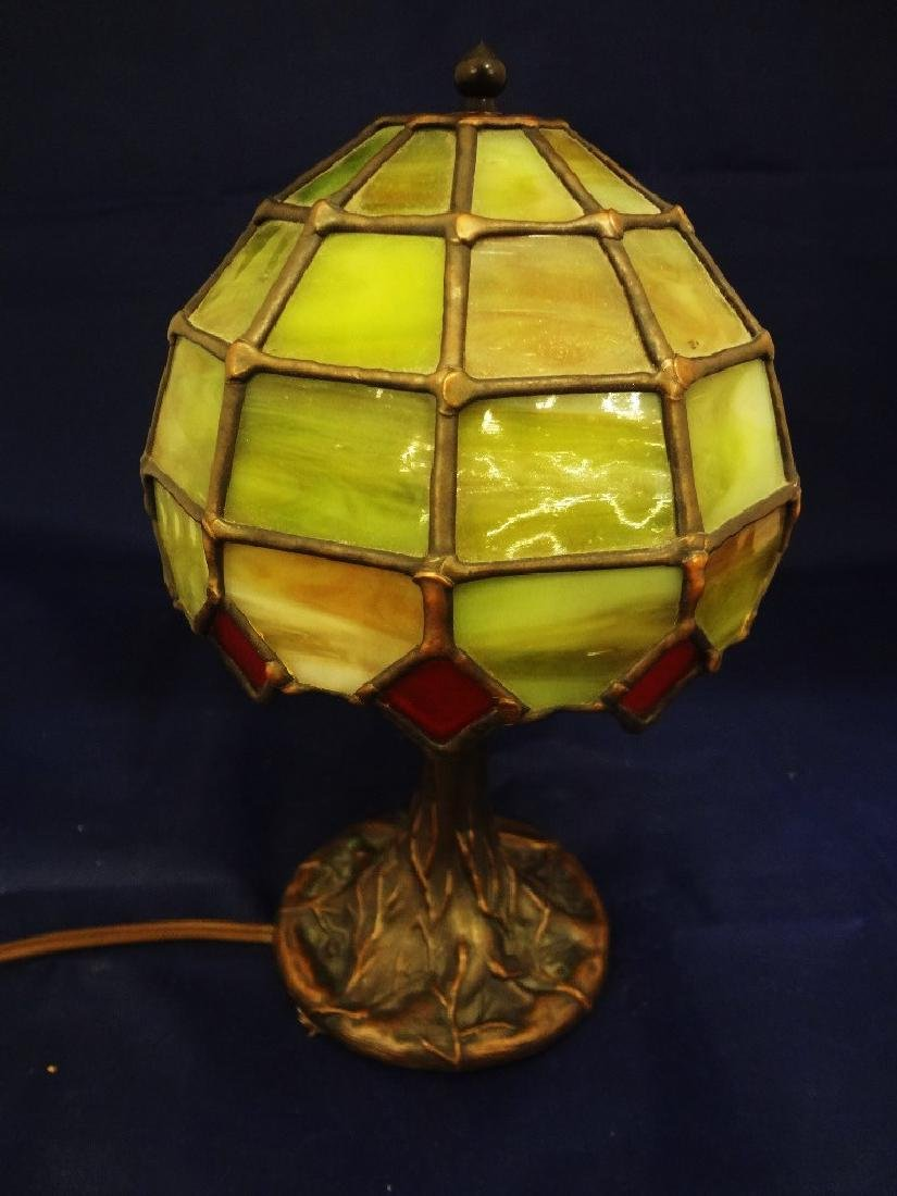 The Christiansen's Lamp Co. Leaded Glass Shade Tree