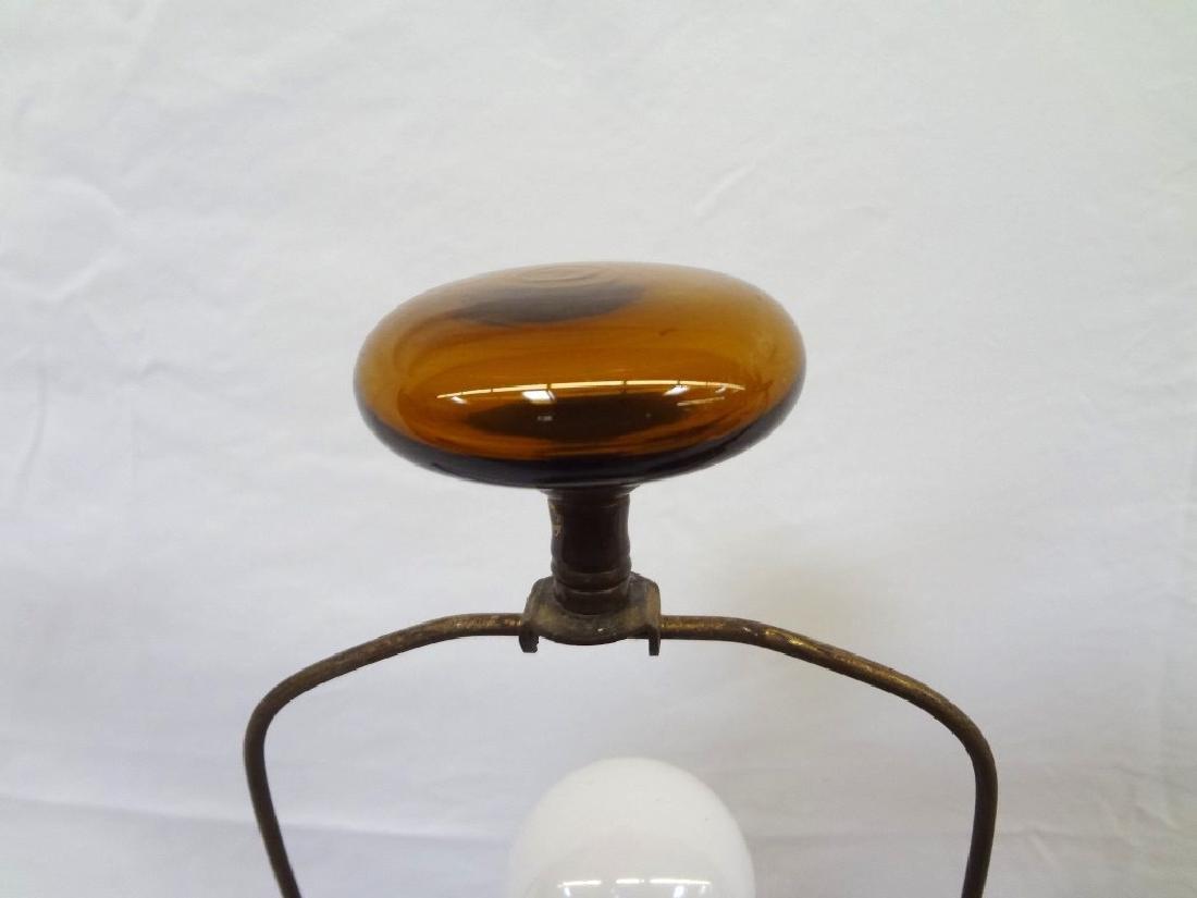 Blenko Glass Mid Century Modern Amber Lamps - 3