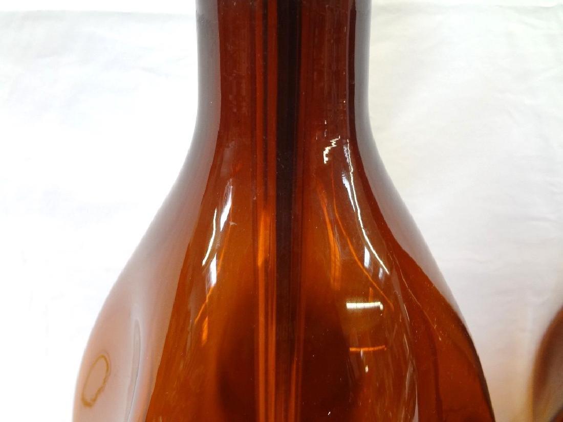 Blenko Glass Mid Century Modern Amber Lamps - 4