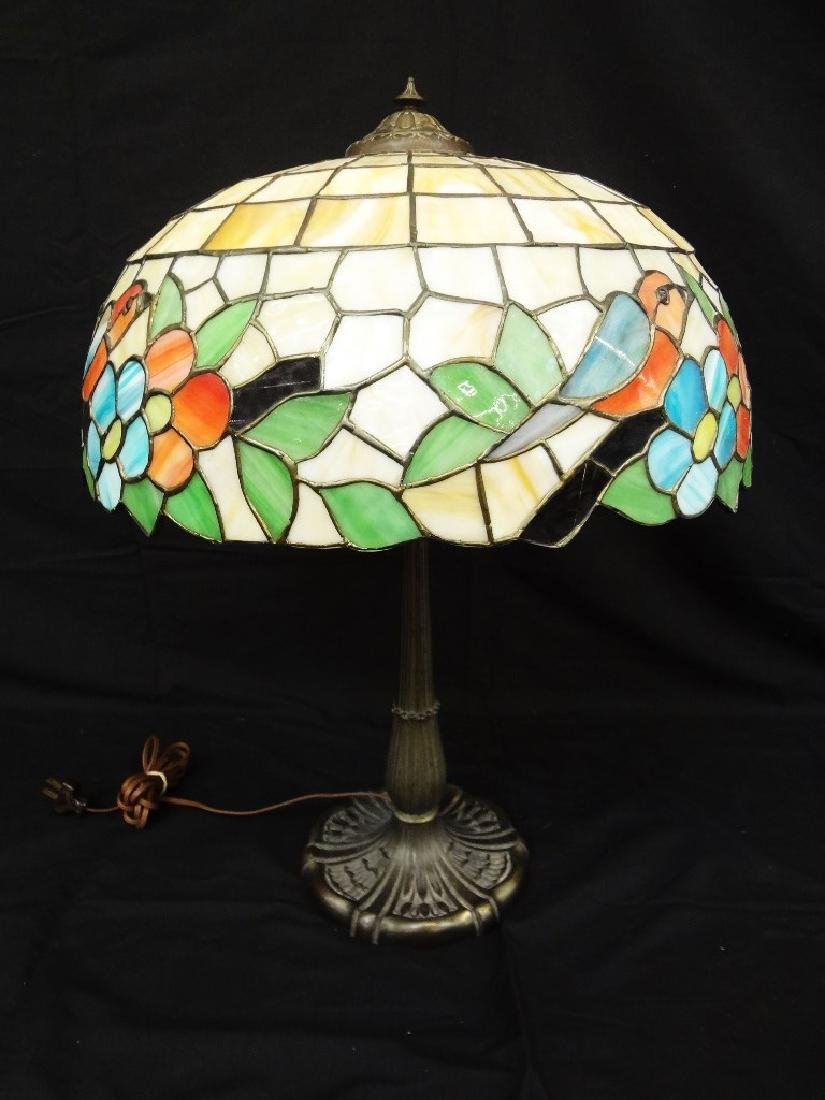 Miller Lamp Company Base Bird Leaded Shade