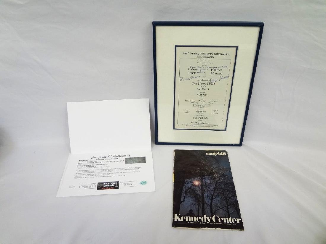 Ronald and Nancy Reagan Autographed Playbill inscribed