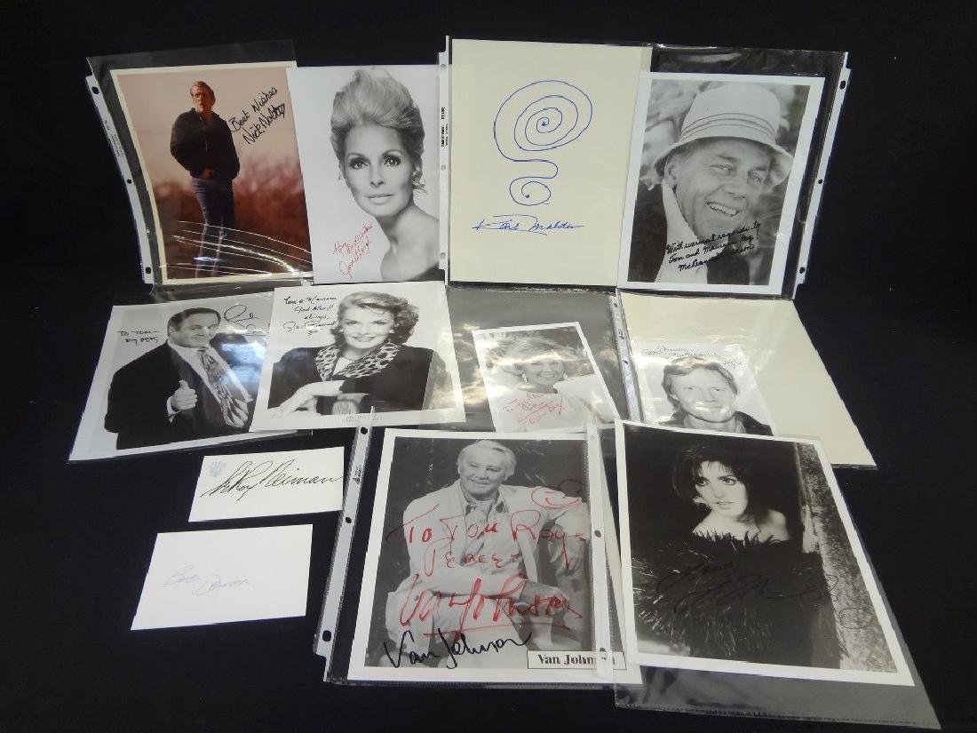(13) Hollywood Autographs: Leroy Nieman, Liza Minelli,