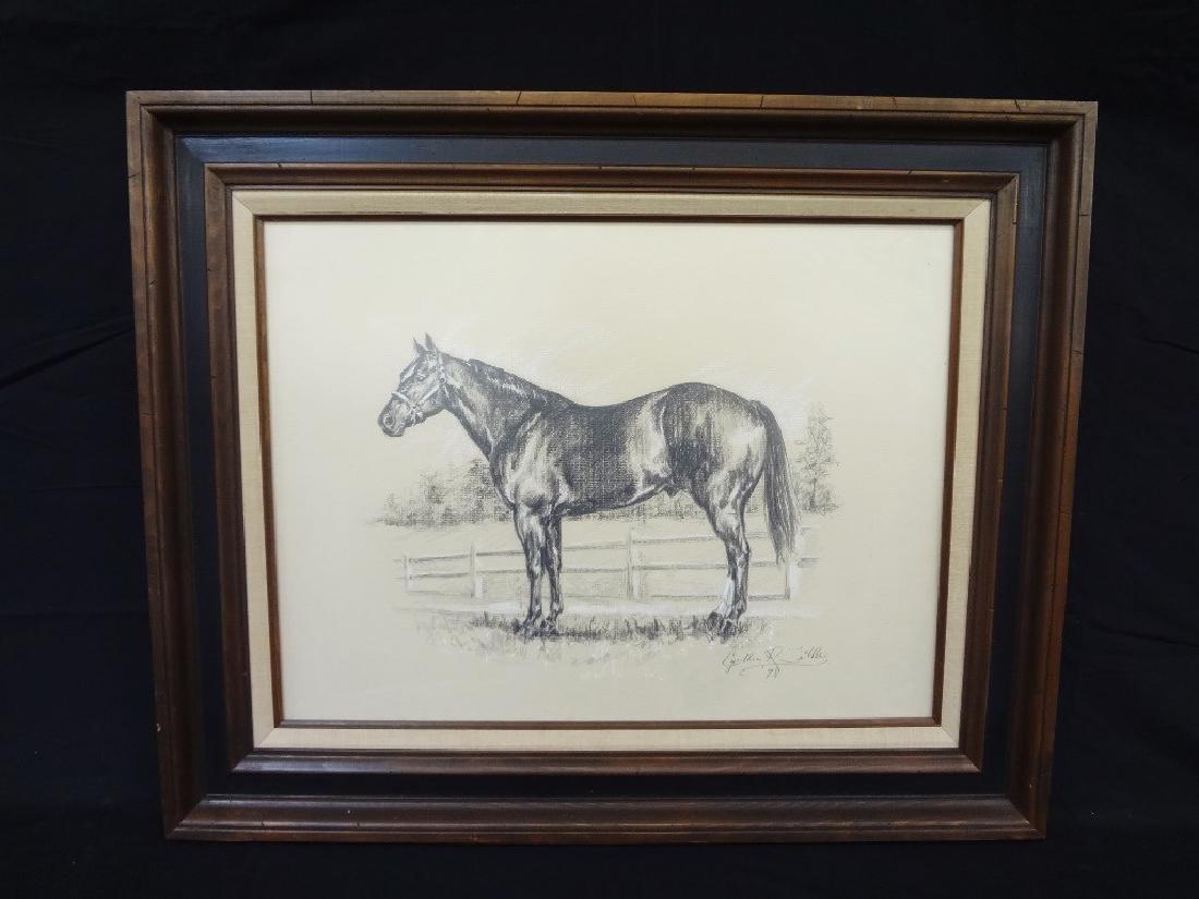 Cynthia R. Tribble Original Charcoal Drawing Horse
