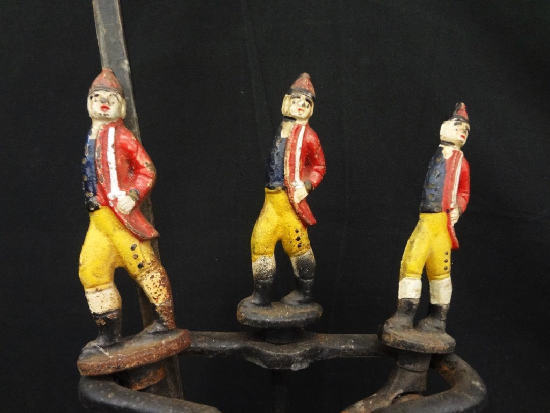 Set of Polychrome Hessian Soldiers Andirons with - 3