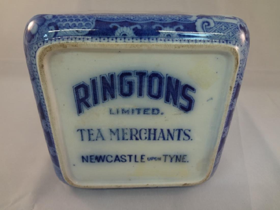 1930's Rington's Porcelain Blue and White Tea Caddy - 3