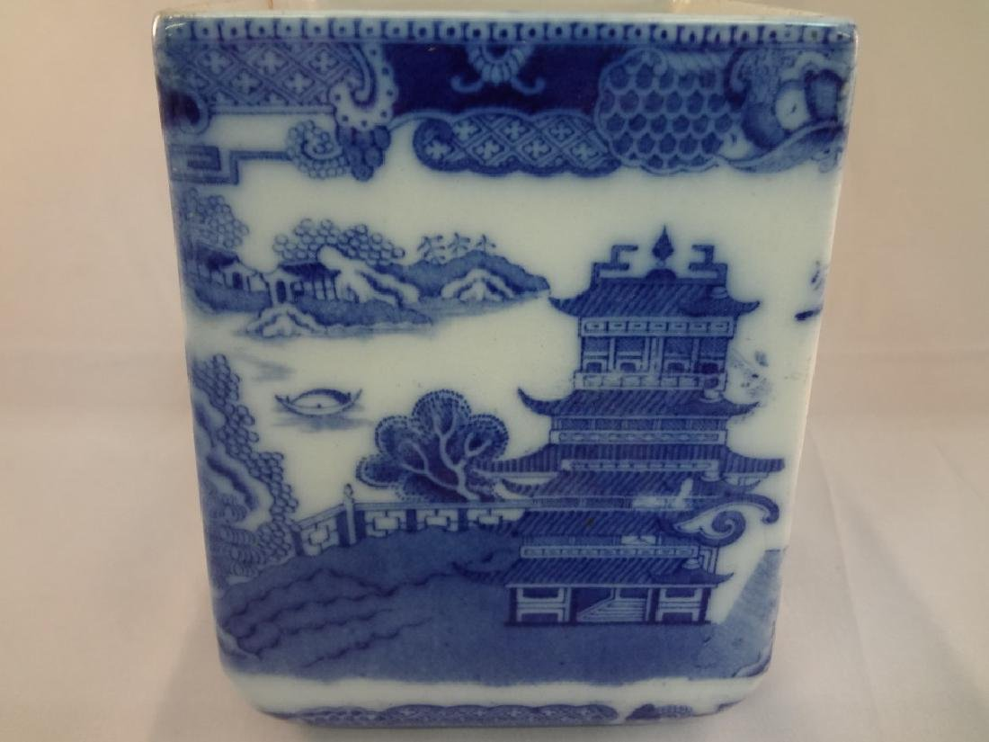1930's Rington's Porcelain Blue and White Tea Caddy - 4