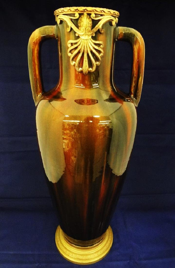 19th Century French Salt Glaze Double Handled Vase