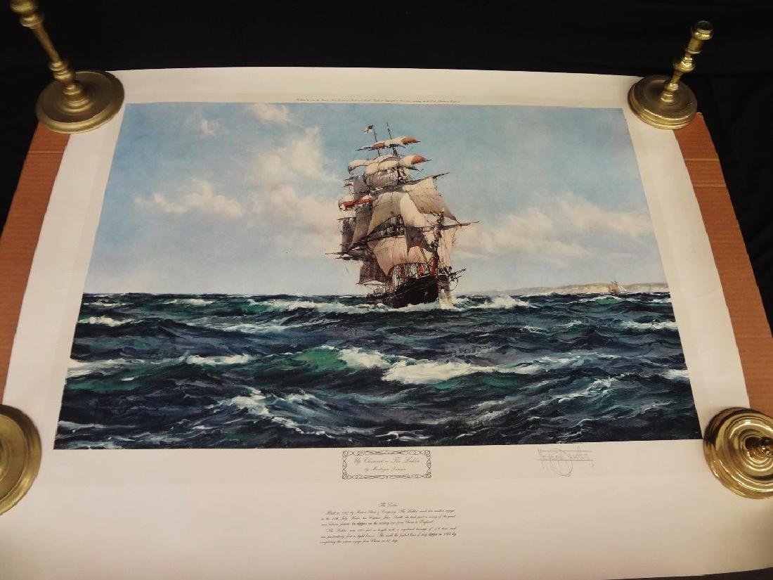 """Montague Dawson Signed Lithograph """"The Lahloo"""""""