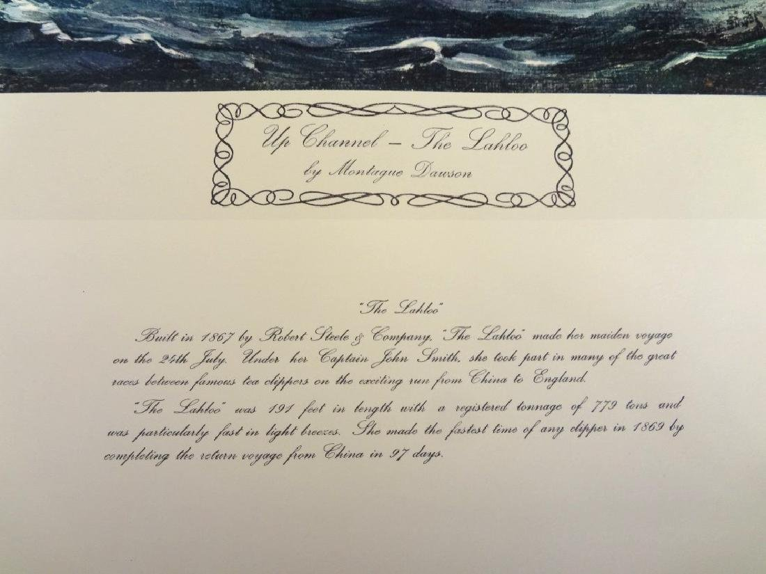 """Montague Dawson Signed Lithograph """"The Lahloo"""" - 3"""