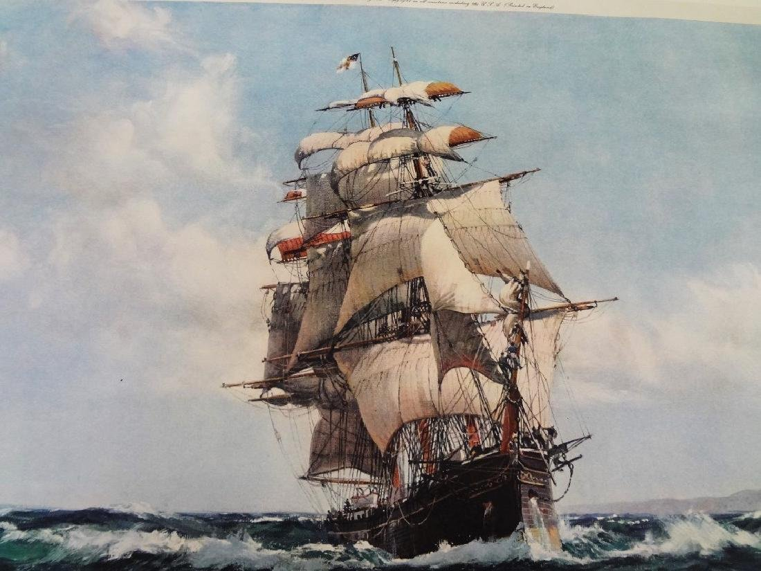 """Montague Dawson Signed Lithograph """"The Lahloo"""" - 4"""